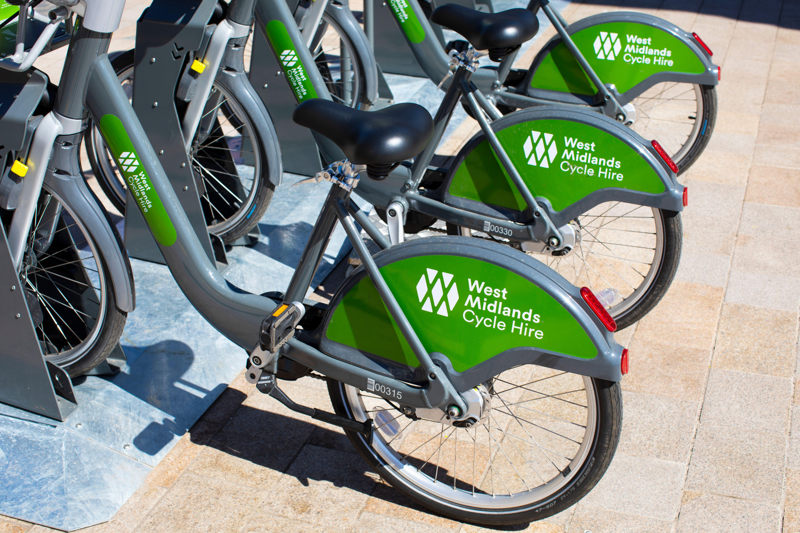 West Midlands Cycle Hire bikes